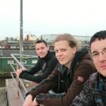 Philipp, Robert und ich in HH