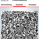 "QR-Code / ""Ticket"" in der DB Ticket App"