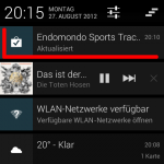 Endomondo update notification