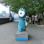 Ein Wenlock - das Maskottchen der örtlichen Olympischen Spiele